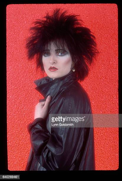 1980 Picture shows Siouxsie Sioux lead singer for Siouxsie the Banshees She is wearing a black leather jacket and her hair is spiked She is facing...