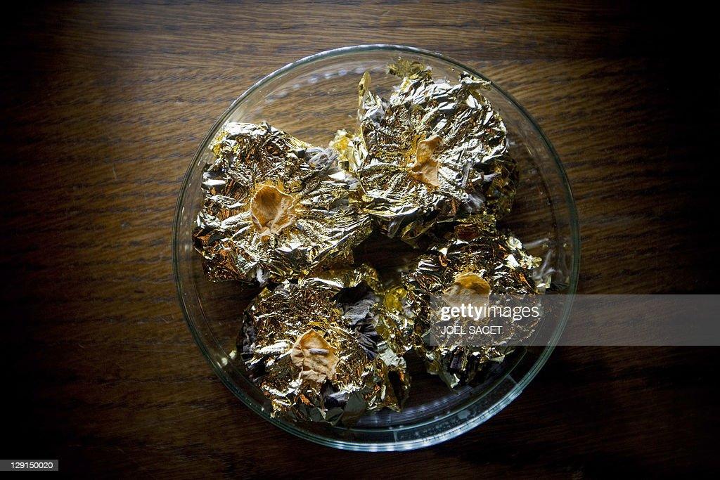 """A picture shows tea """"Bouquet d'or"""" (gold : Photo d'actualité"""
