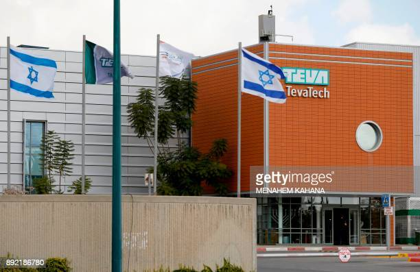 A picture shows Teva's the world's biggest manufacturer of generic drugs plant in Ne'ot Hovav an industrial south of Beersheva on December 14 2017...