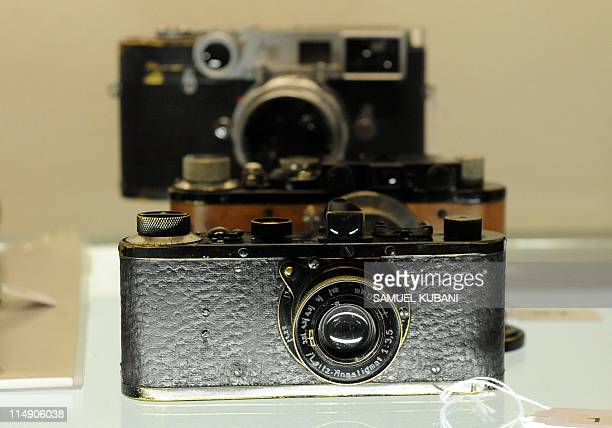 A picture shows the 7th camera of the Leica 0series during the West Licht Photographica Auction in Vienna on May 28 2011 Only approx 25 of these...
