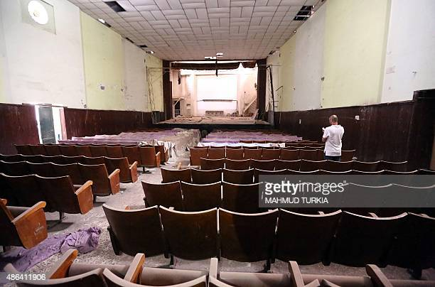 A picture shows the abandoned alZahraa cinema theatre in the Libyan capital Tripoli on August 26 2015 Libya's capital once known as the 'Mermaid of...