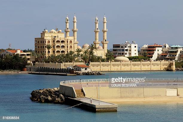 A picture shows the Afamia mosque in the Syrian coastal city of Latakia the provincial capital of the heartland of the president's Alawite sect on...