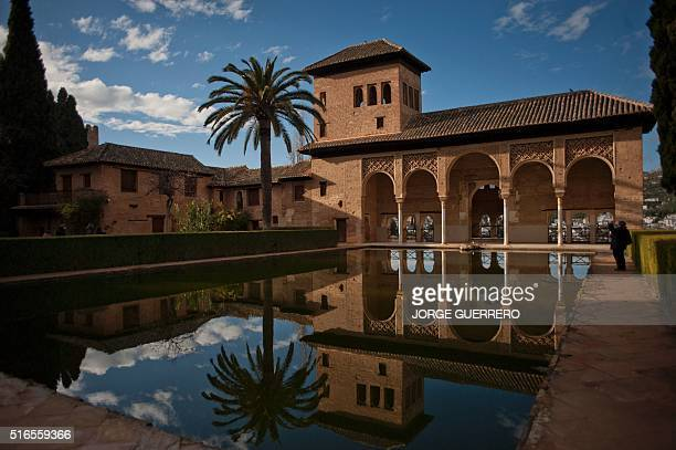 Picture shows the Alhambra in Granada the most visited monument in Spain on March 19 2016 / AFP / JORGE GUERRERO