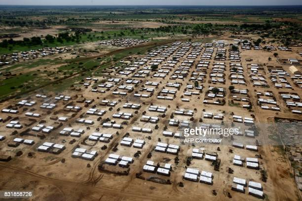 A picture shows the AlNimir camp for South Sudanese refugees in the Sudanese state of East Darfur on August 15 2017 More than 5000 South Sudanese...