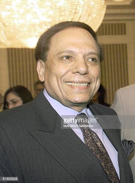 Picture shows the Arab world's top comedian Adel Imam during the ceremony to name him as a goodwill ambassador for the United Nations High...