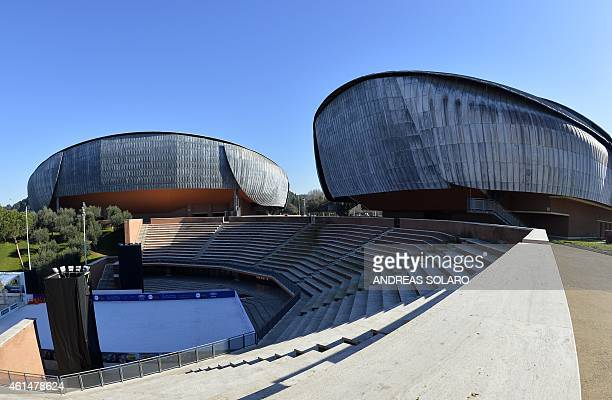 A picture shows the auditorium Parco Della Musica designed by Italian architect Renzo Piano on January 13 2015 in Rome The three large concert halls...
