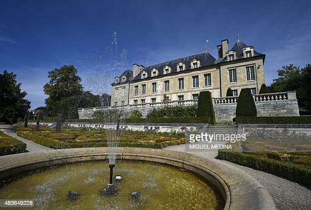 A picture shows the AuverssurOise Castle in the northwestern suburbs of Paris on August 11 2015 AuverssurOise is mostly known as the village where...