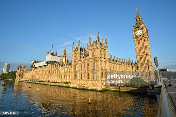 A picture shows the British Houses of Parliament in central London on June 24 2016 Britain voted to break away from the European Union Friday...