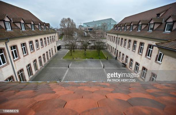 SIMON A picture shows the building of the Ecole Nationale d'Administration on January 14 2013 in Strasbourg eastern France The National School of...