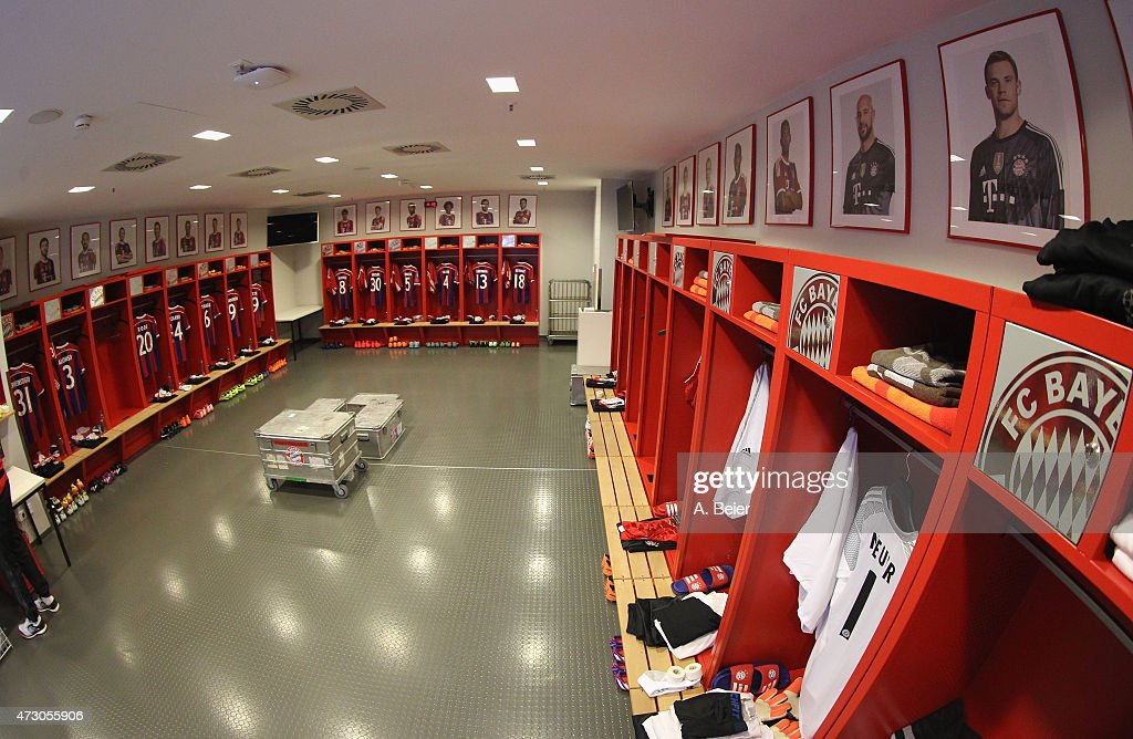 Picture shows the changing room of Bayern Muenchen before the UEFA Champions League semi final second leg match between FC Bayern Muenchen and FC Barcelona at Allianz Arena on May 12, 2015 in Munich, Germany.