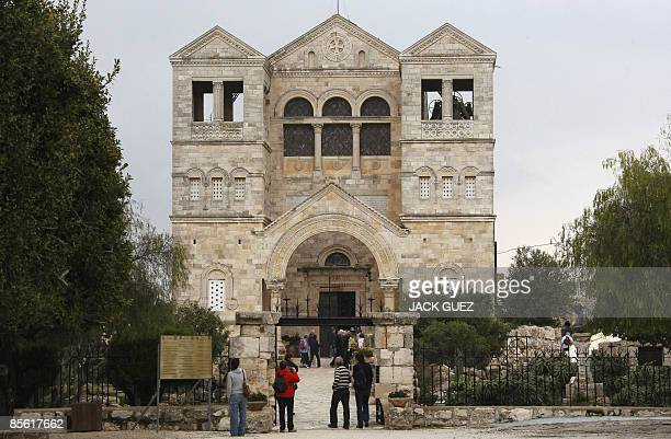 A picture shows the Church of the Transfiguration on Mount Tabor in Israel�s Lower Galilee on March 25 2009 According to Christian tradition Mount...
