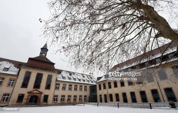 SIMON A picture shows the courtyard of the Ecole Nationale d'Administration on January 15 2013 in Strasbourg eastern France The National School of...
