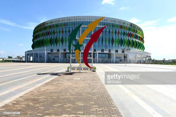 A picture shows the Dakar Arena stadium in Diamniadio on the outskirts of Senegal's largest city and capital Dakar on September 19 2018