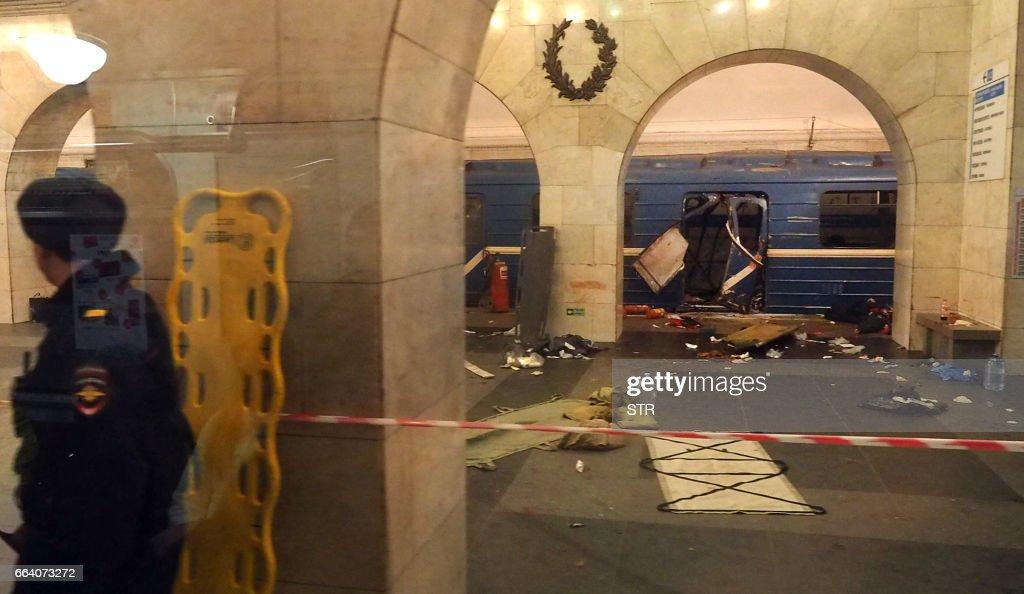 TOPSHOT-RUSSIA-METRO-BLAST : News Photo
