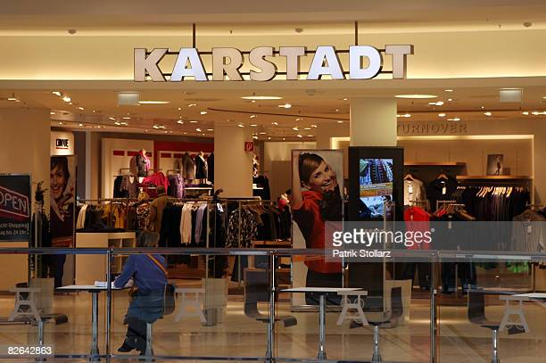 Picture shows the department store Karstadt on September 3 2008 in Essen Germany The company's Karstadt department store chain will dismiss 400 to...
