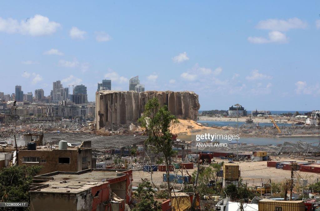 LEBANON-BLAST-DESTRUCTION : Nieuwsfoto's
