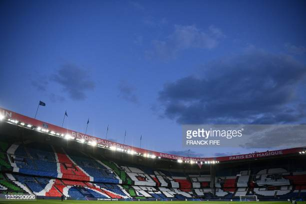 Picture shows the empty stadium prior to the UEFA Champions League quarter-final second leg football match between Paris Saint-Germain and FC Bayern...