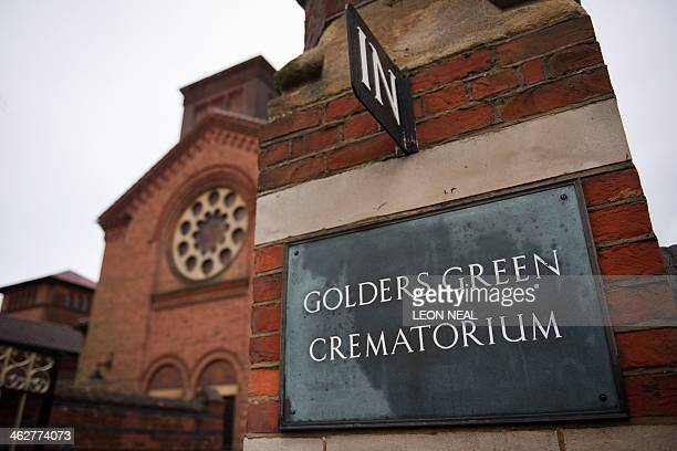 A picture shows the exterior of Golders Green crematorium in London on January 15 2014 where the ashes of Sigmund Freud and his wife are housed...