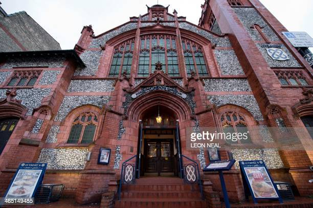 A picture shows the exterior of O'Neills pub built in a former Presbyterian church in Muswell Hill north London on January 16 2014 At one church the...