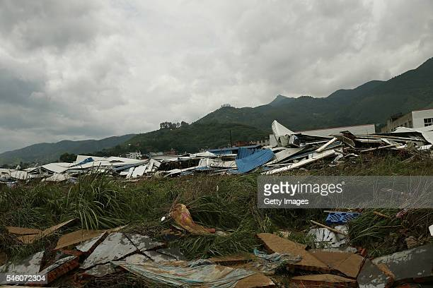 Picture shows the fallen workshops in Bandong Town after Typhoon Nepartak on July 10 2016 in Minqing County Fuzhou City Fujian Province of China 6...