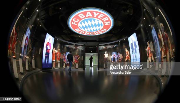 Picture shows the FC Bayern Erlebniswelt museum on May 10, 2019 in Munich, Germany.