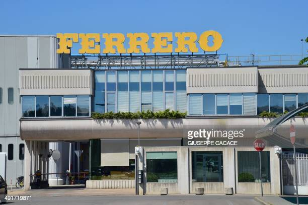 A picture shows the Ferrero plant in Alba on May 17 2014 during the celebrations marking the 50th anniversary of Nutella the chocolate hazelnut...
