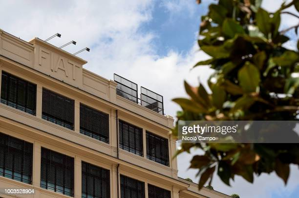 A picture shows the Fiat historic building 'Lingotto' that now is a Fiat Chrysler Automobiles headquarters On July 21 FCA board discuss succession of...
