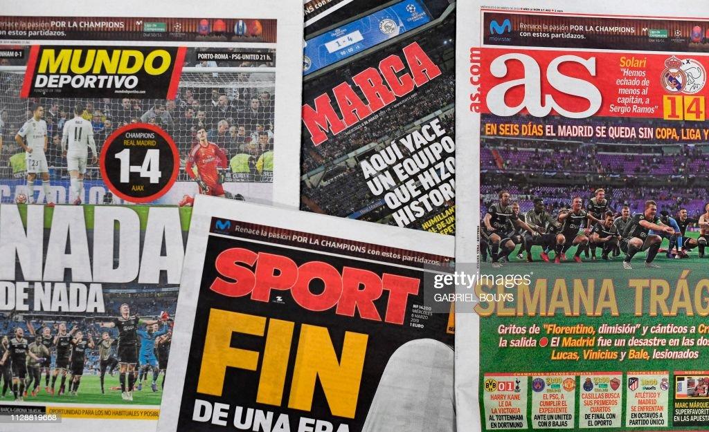 FBL-EUR-C1-REAL MADRID-AJAX-PRESS : News Photo