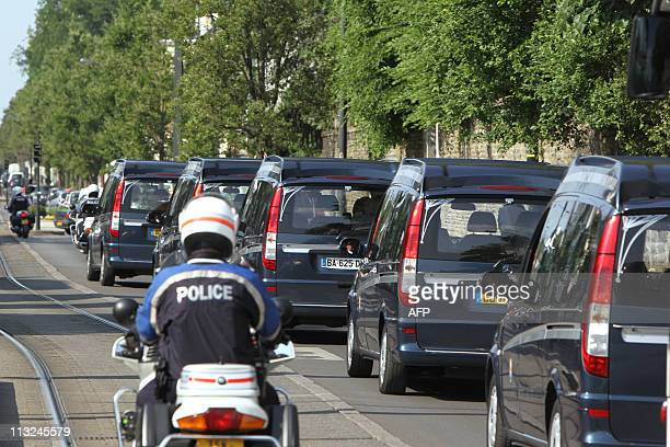 A picture shows the funeral cortege of the Dupont de Ligonnes family on April 28 2011 in the French western city of Nantes Five Dupont de Ligonnes...