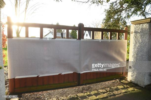 A picture shows the gates of the home of Manchester United executive vicechairman Ed Woodward in the village of Lower Peover near Knutsford northwest...