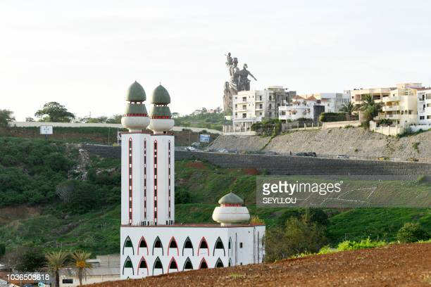 A picture shows the Grand Mosque in Senegal's largest city and capital Dakar on September 18 2018