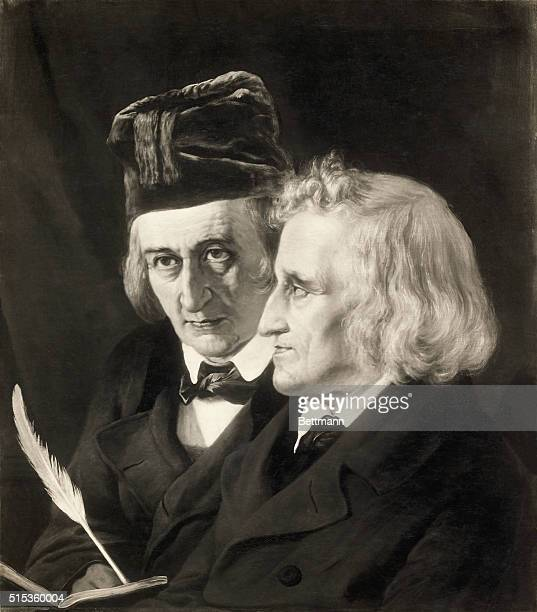 Picture shows the Grimm Brothers famed fairy tale collectors and philologists Jacob and Wilhelm Karl