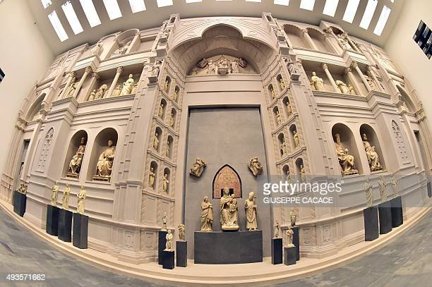 CAPTION === A picture shows the Heaven room during a press preview of the new Museo dell'Opera del Duomo in Florence on October 21 2015 The museum...