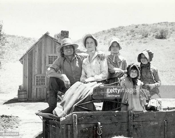 "Picture shows the Ingalls family from the TV Series, ""Little House on the Prairie."" Left to right; Michael Landon, Karen Grassle, Melissa Sue..."