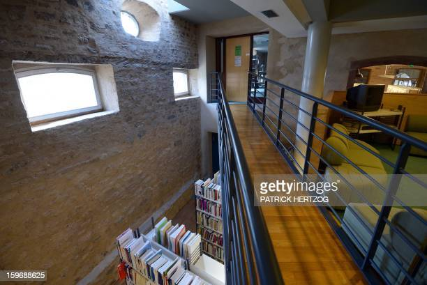 SIMON A picture shows the library at the Ecole Nationale d'Administration on January 14 2013 in Strasbourg eastern France The National School of...