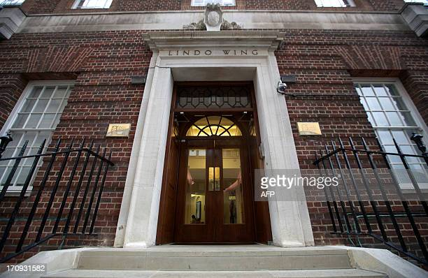 A picture shows the Lindo Wing at St Mary's Hospital in London on June 20 2013 According to British royal sources Prince William and his wife...