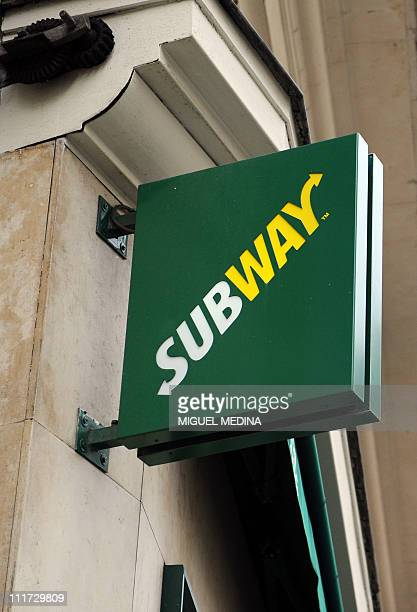Picture shows the logo of a Subway restaurant in Paris on April 4, 2011. With 33.749 restaurants around the world, Subway is now the world's largest...