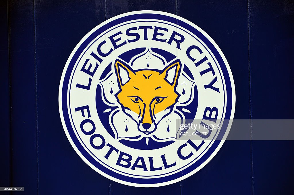 A picture shows the logo of Leicester City Football Club ...