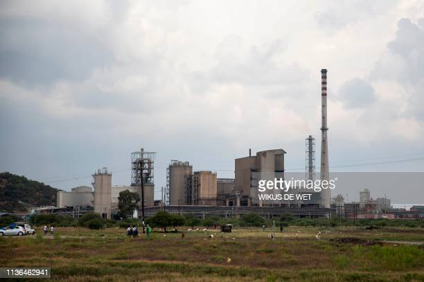 Picture shows the Lonmin platinum mine in Marikana on April 12, 2019.