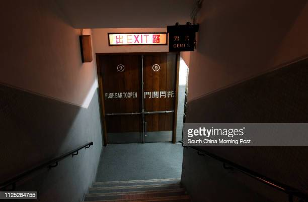 A picture shows the man toilet entrance inside the Sunbeam Theatre Sunbeam Theatre where Feng Sheng Hui Theatre preforms their last show 'the Lion's...