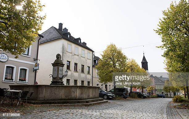 Picture shows the market place of Lichtenberg in Bavaria Germany on October 17 2016 Peggy Knobloch a nineyearold disappeared on her way home from...