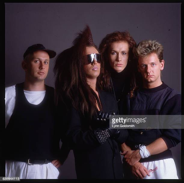 Picture shows the members of the band Dead or Alive posing in a studio together Undated photo circa 1980s