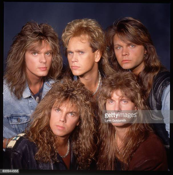 1988 Picture shows the members of the band Europe posing headtohead ina studio