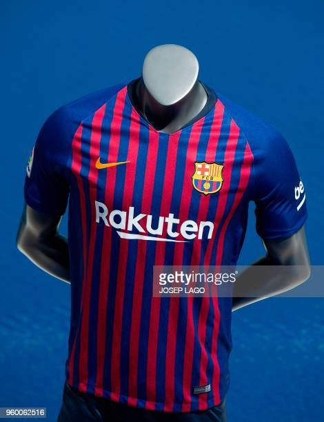 Picture shows the new FC Barcelona jersey for the 201819 season presented on May 19 2018 in Barcelona