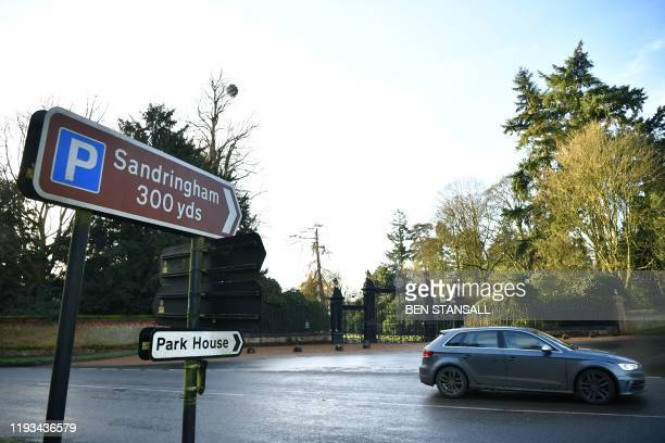 A picture shows the Norwich Gates at Sandringham House the private residence of Britain's Queen Elizabeth II in Sandringham Norfolk eastern England...