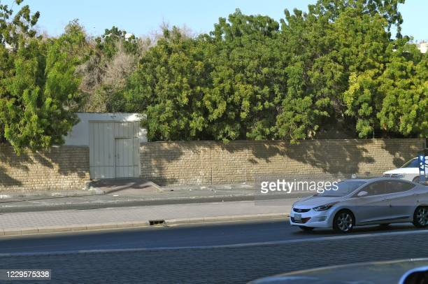 Picture shows the outside of a non-Muslim cemetery in the Saudi city of Jeddah where a bomb struck a World War I commemoration attended by European...