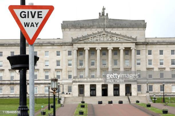 A picture shows the Partliament Buildings on the Stormont Estate in Belfast on April 26 2019 Britain and Ireland on Friday announced new talks to...