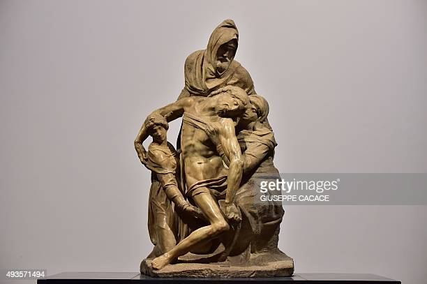 CAPTION === A picture shows the Pieta' of Michelangelo Buonarotti during a press preview of the new Museo dell'Opera del Duomo in Florence on October...