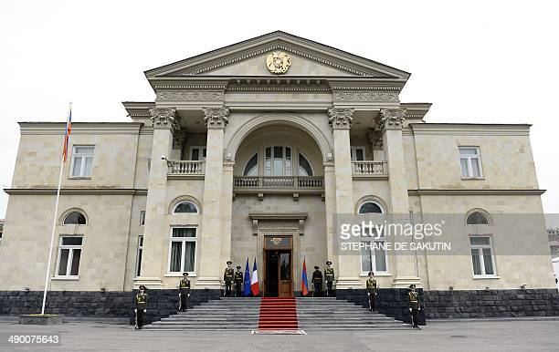 Picture shows the Presidential Palace in Yerevan on May 13, 2014. French President Francois Hollande started a three-day visit to the South Caucasus...