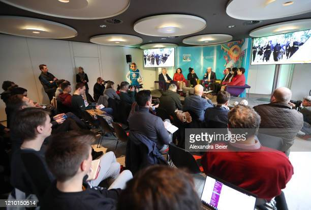 Picture shows the press conference UEFA EURO 2020 100 days to go at Olympiahalle on March 03 2020 in Munich Germany